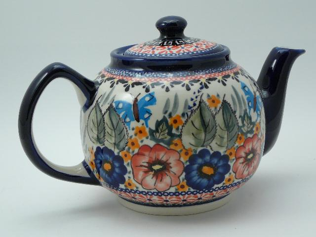 Teapot With Polish Pottery