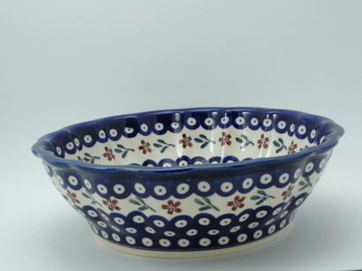 Blue and White Polish Pottery
